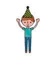 scribble party boy cartoon vector image vector image