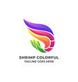 shrimp colorful design concept template vector image