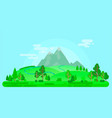 summer landscape with mountains and trees vector image