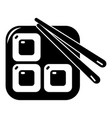 sushi icon simple black style vector image vector image