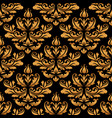 vintage gold damask pattern vector image vector image
