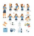 woman who has diabetes symptoms chronic fatigue vector image