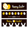 Happy Easter banner set collection vector image