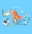 3d isometric flat concept of vector image