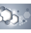 Abstract background with hexagons vector image vector image