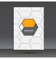 abstract hexagon set vector image vector image