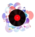 Abstract music background for your design vector image