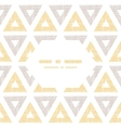 Abstract textile ikat yellow brown triangles frame vector image vector image