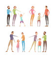 Adults Abuse Children Set vector image