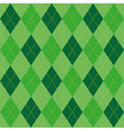 Argyle pattern green rhombus seamless texture vector image vector image