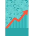 Background of graph with rising up arrow and vector image