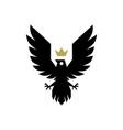 bird crown logo icon vector image vector image