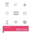 Birthaday icon set vector image vector image