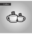 black and white style cups coffee vector image