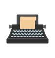 black classic typewriter icon flat style vector image
