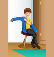 boy wearing clothes vector image