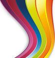 Bright rainbow lines colorful background vector image vector image