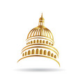 capitol gold building icon vector image