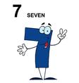 Cartoon numbers vector image vector image