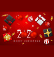 christmas or new year greeting card candy cane vector image vector image