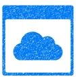 Cloud Calendar Page Grainy Texture Icon vector image vector image