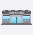 convenience sneakers store building vector image vector image