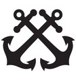 crossed anchors design vector image vector image