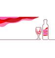 design background for restaurant bar or alcoholic vector image