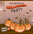 design of halloween party invitation vector image
