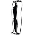 drawing of elegant man pants posing vector image vector image