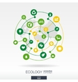 Ecology connection concept Abstract background vector image