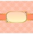 Elegant beige frame design for greeting card vector image vector image