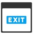 Exit Caption Calendar Page Toolbar Icon vector image vector image