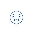 feeling sick emoji line icon concept feeling sick vector image vector image