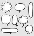 hand drawn set speech bubbles vector image
