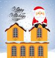 happy merry christmas vector image vector image
