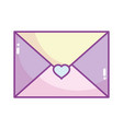 happy valentines day mail envelope letter card vector image vector image