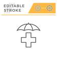 health insurance editable stroke line icon vector image vector image
