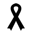 icon black mourning ribbon vector image