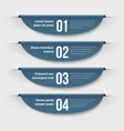 infographic banners 3d colorful labels with steps vector image vector image