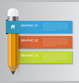 infographic pencil concept vector image