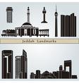 Jeddah landmarks and monuments vector image