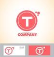 Letter T pink logo vector image vector image