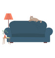 living room place for relax cat on sofa vector image vector image