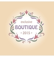 logo with a vignette of flowers Boutique perfumes vector image vector image