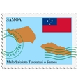 mail to-from Samoa vector image vector image