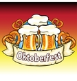 Oktoberfest label with beer and pretzels vector image vector image