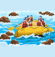 people rafting vector image vector image