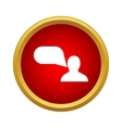 Person and speech bubble icon in simple style vector image