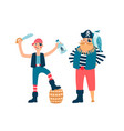 pirates cartoon characters vector image